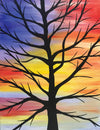 "Painting and Pints: ""Sunset Branches"" at Climb Hard Cider"