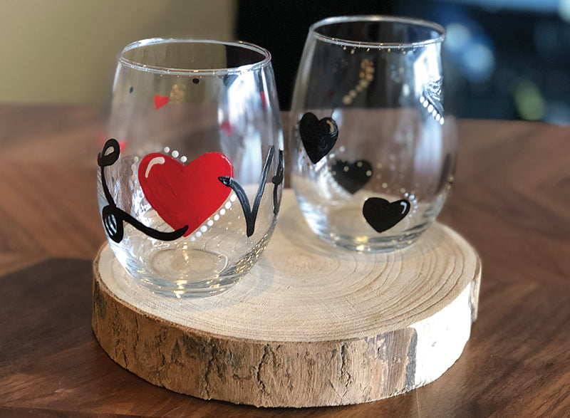 Valentine Wine Glass Painting at Toast Coffee & Wine Bar