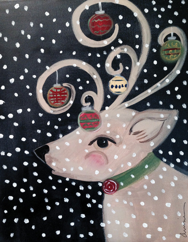 "Painting and Pints: ""Merry Reindeer"" at Brix Taphouse & Brewery (Greeley)"