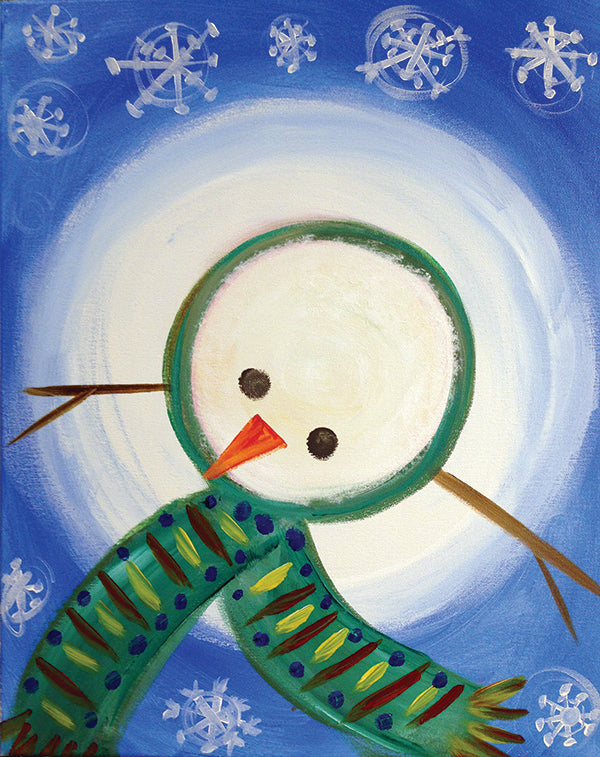 Snowman Top Paint-at-Home Kit