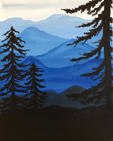 "Painting and Pints: ""Forest View"" at Mighty River Brewing"