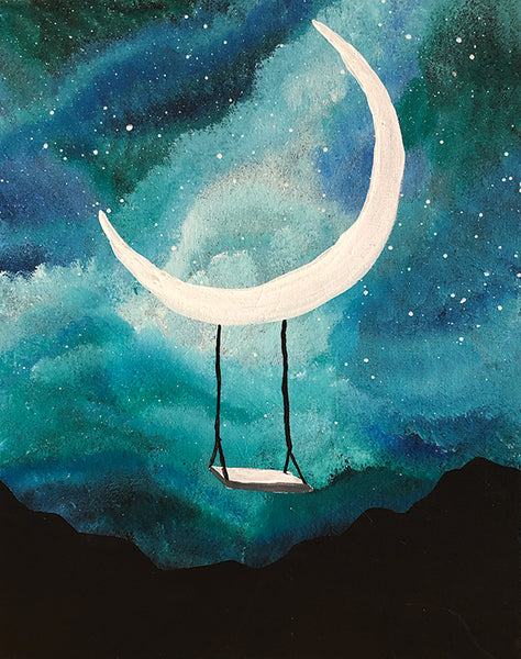 "Painting and Pints: ""Moonlit Dreams"" at Verboten Brewing"