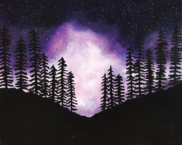 "Painting and Pints: ""Starlit Mountain"" at Verboten Brewing"