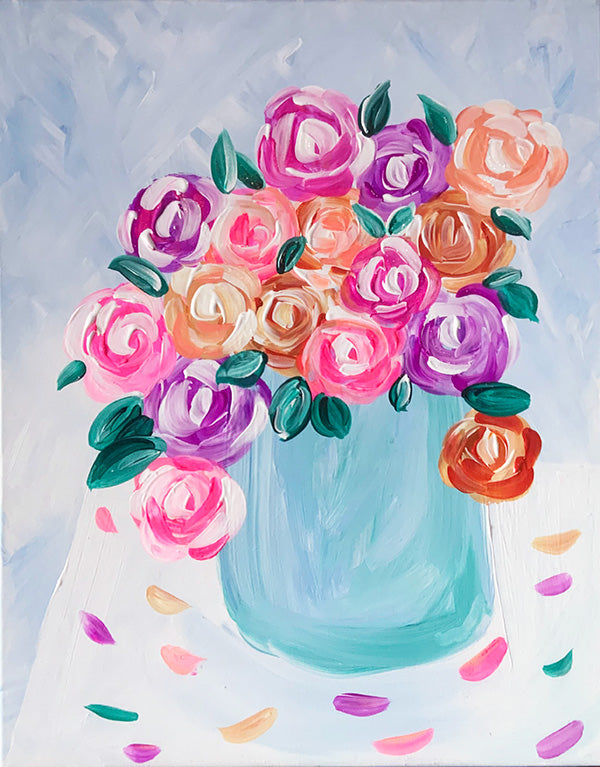Spring Roses Paint-at-Home Kit