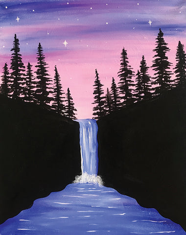 Starlit Waterfall