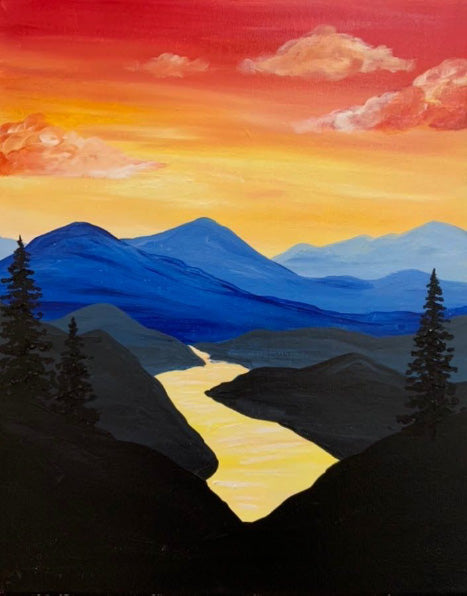 Sunset River Paint-at-Home Kit