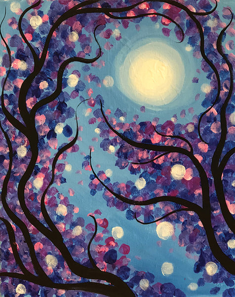 "Painting and Pints: ""Moon Flowers"" at Verboten Brewing"