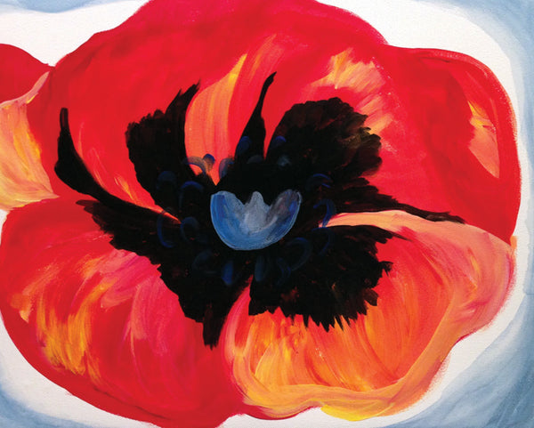 "Painting & Pints: ""O'Keefe Poppy"" at Brix Taphouse & Brewery (Greeley)"