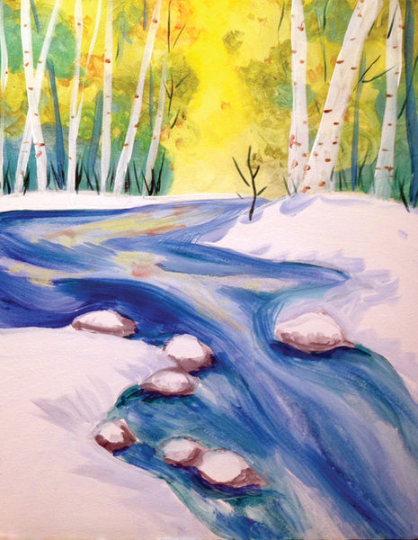 "Painting and Pints: ""Snowy Stream"" at Brix Taphouse & Brewery (Greeley)"