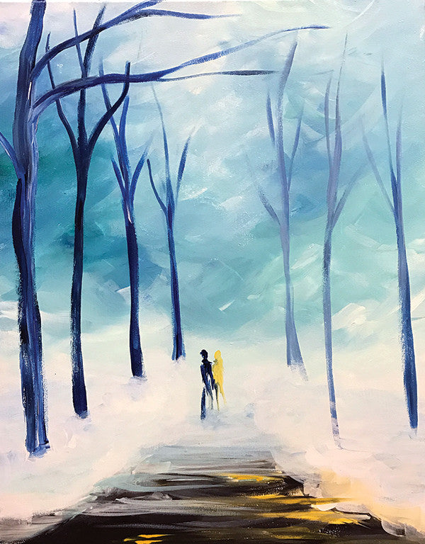 "Painting and Pints: ""Winter Stroll"" at Verboten Brewing"