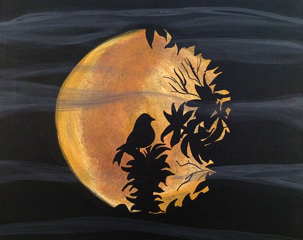 "Painting & Pints: ""Moon Bird"" at Brix Taphouse & Brewery (Greeley)"