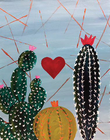 "Painting and Pints: ""Cactus Love"" at Climb Hard Cider"