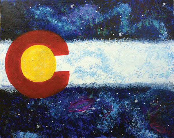 "Painting and Pints: ""Colorado Galaxy"" at Verboten Brewing"