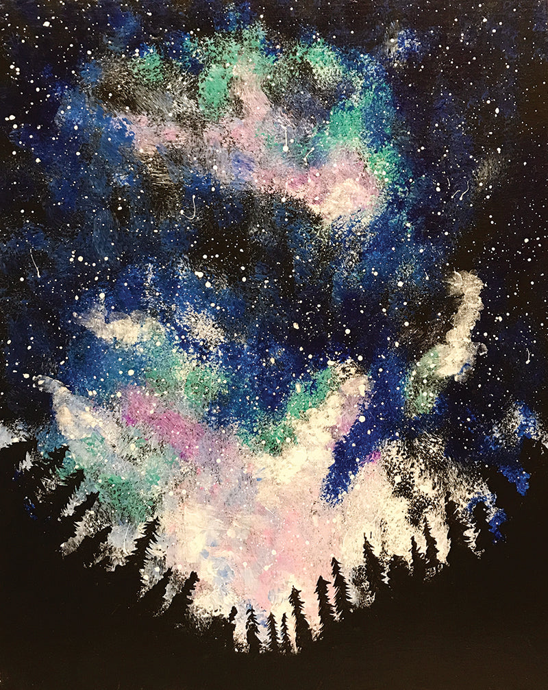 "Painting and Pints: ""Mountain Galaxy"" at Verboten Brewing"