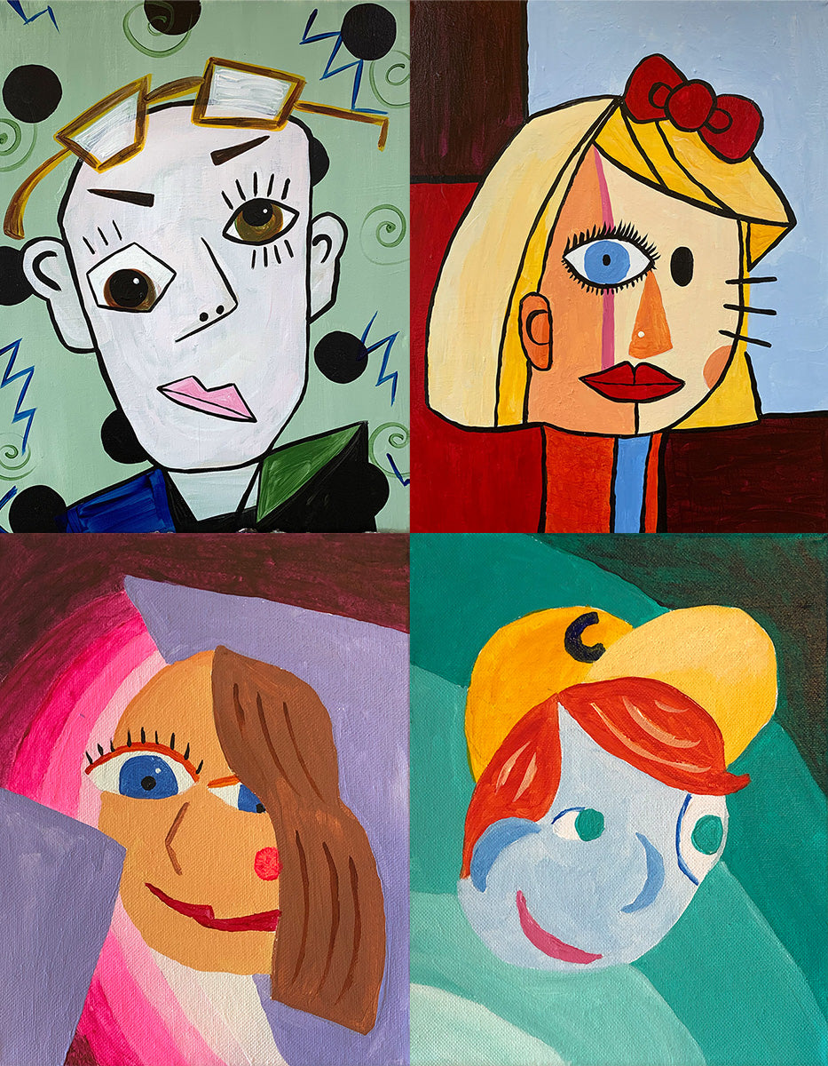Paint Your Family: Picasso Style! Paint-at-Home Kit
