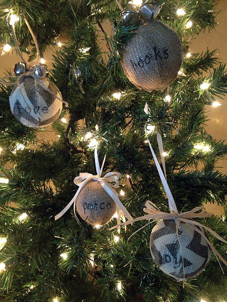 Crafts & Cocktails: Burlap Ornaments