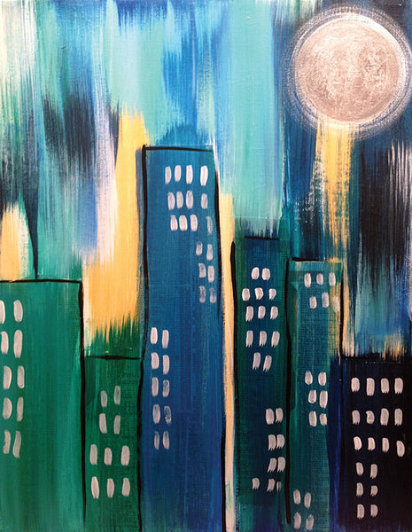 "Painting, Pizza, and Pints: ""Blue City"" at Verboten"