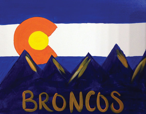 "Painting and Pints: ""Go Broncos"" at Loveland Aleworks"