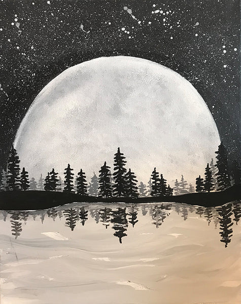 "Painting and Pints: ""Magnificent Moon"" at Loveland Aleworks"