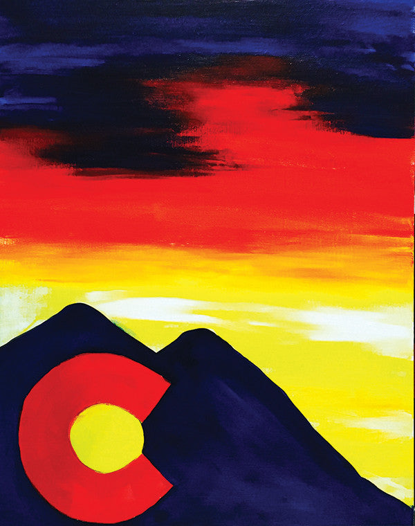 "Painting and Pints: ""Colorado Night"" at Loveland Aleworks"