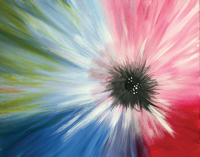 "Painting and Pints: ""Abstract Flower"" at Left Hand Brewing Company"