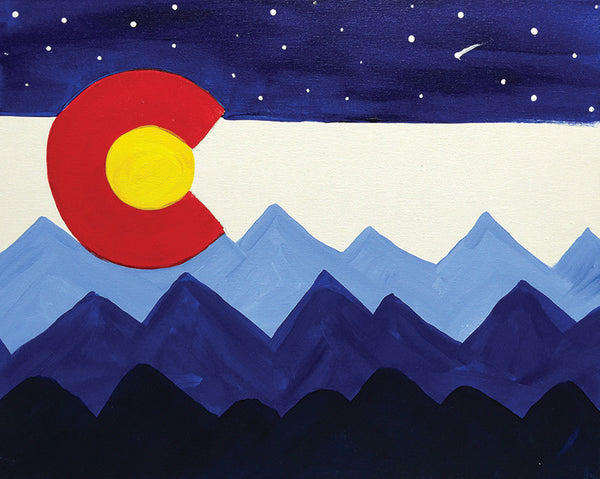 "Painting & Pints: ""Colorado Skyline"" at Brix Taphouse & Brewery (Greeley)"