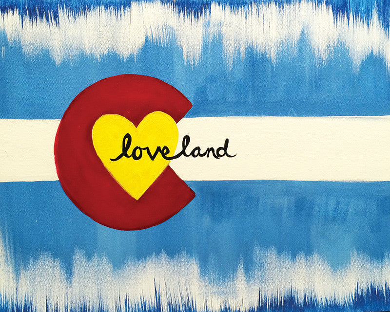 "Happy Birthday Studio Vino! Paint ""Loveland"""