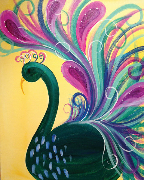 "Painting and Pints: ""Pretty Peacock"" at Brix Taphouse & Brewery (Greeley)"