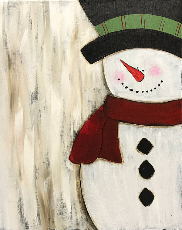 "Painting and Pints: ""Vintage Snowman"" at Loveland Aleworks"
