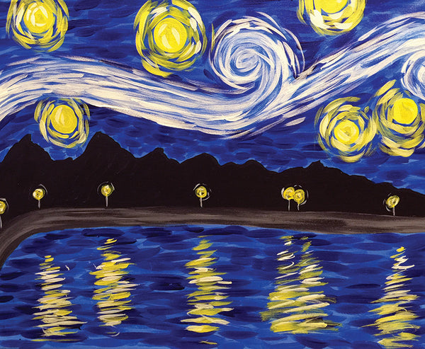 "Painting and Pints: ""Starry Loveland"" at Loveland Aleworks"