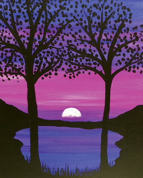 "Painting and Pints: ""Magical Moonrise"" at Climb Hard Cider"