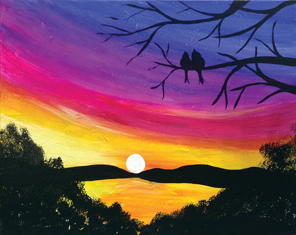 "Painting and Pints: ""Lovebird Sunset"" at Big Thompson Brewery"