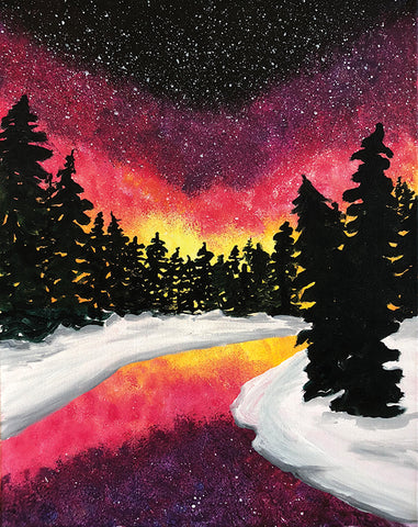 "Painting and Pints: ""Snowy Sunset"" at Loveland Aleworks"