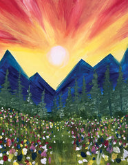 "Painting and Pints: ""Mountain Rise"" at Mighty River Brewing"