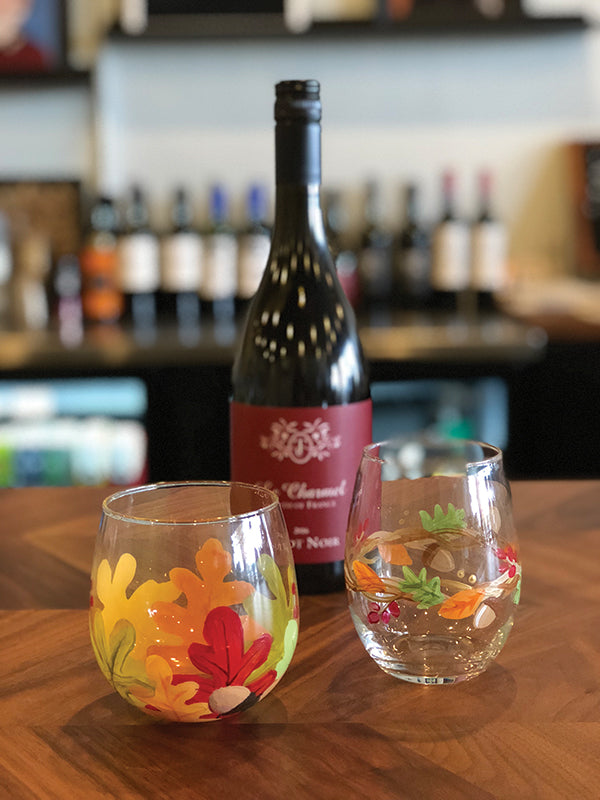 Autumn Wine Glass Painting at Dark Heart Coffee Bar