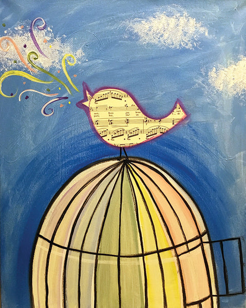 Mixed Media: Free Bird