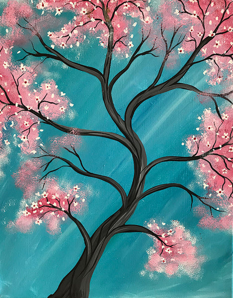 "Painting and Pints: ""Blooming Tree"" at Verboten Brewing"