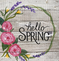 Hello Spring on Wood Pallet