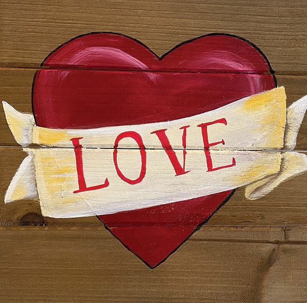 Painted Love Wood Pallet