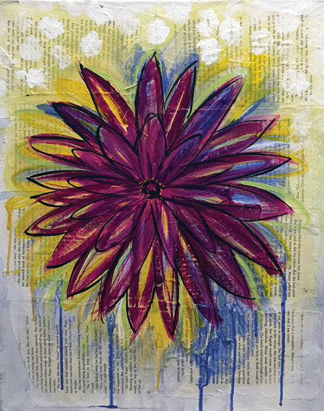 Mixed Media: Floral Splash