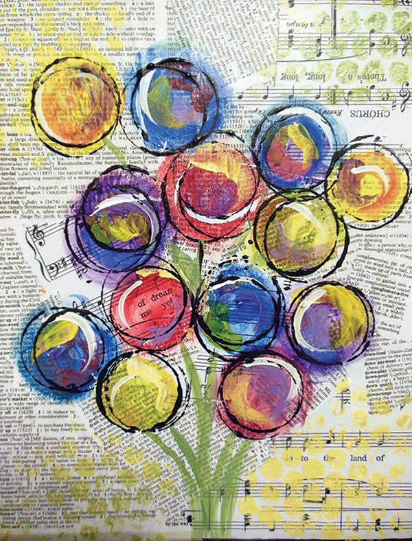 Mixed Media: Blooming Notes