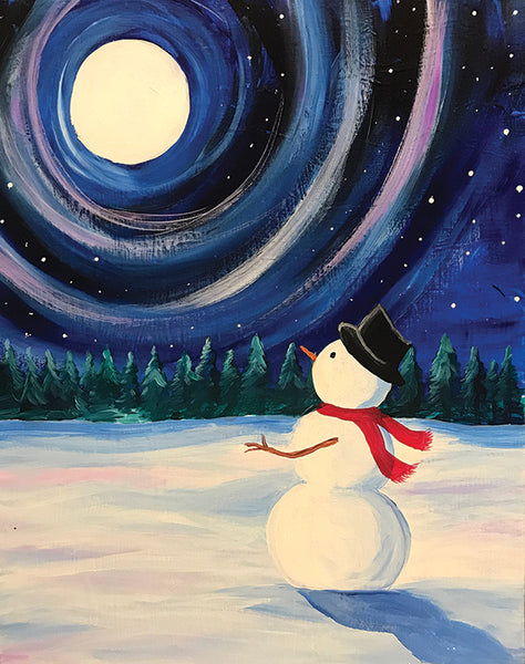 "Painting and Pints: ""Snowman Night"" at Verboten Brewing"