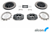 RCM / ALCON 4POT REAR MOTORSPORT BRAKE KIT 343MM