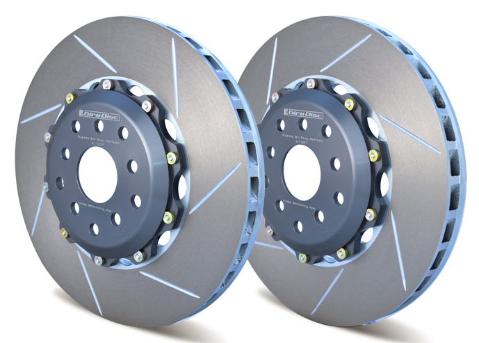 Girodisc Front 2pc Floating Rotors for 04-17 STi