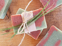 Pine-Strawberry Handmade Soap