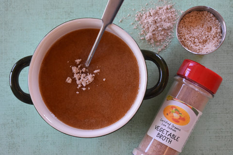 Slippery Elm Gruel with Vegetable Broth