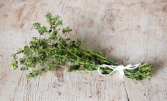 Small Fresh Thyme Bundle on Wood