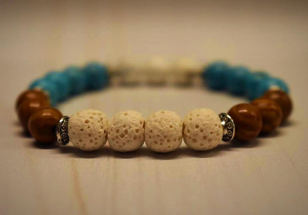 Aromatherapy Bracelet with Turquoise & Wood