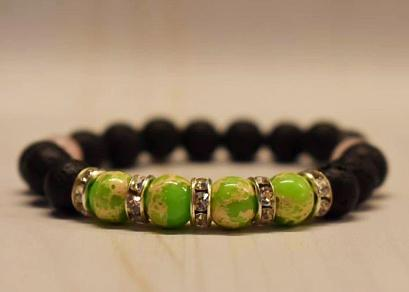 Aromatherapy Bracelet with Emperor Beads