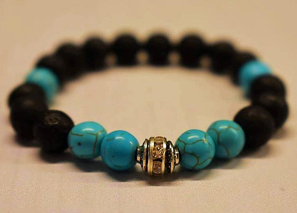 Aromatherapy Bracelet with Turquoise